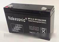 Аккумулятор NOKASONIK 6v-12 ah 1600 gm, аккумуляторная батарея 6в, купить аккумулятор в Харькове