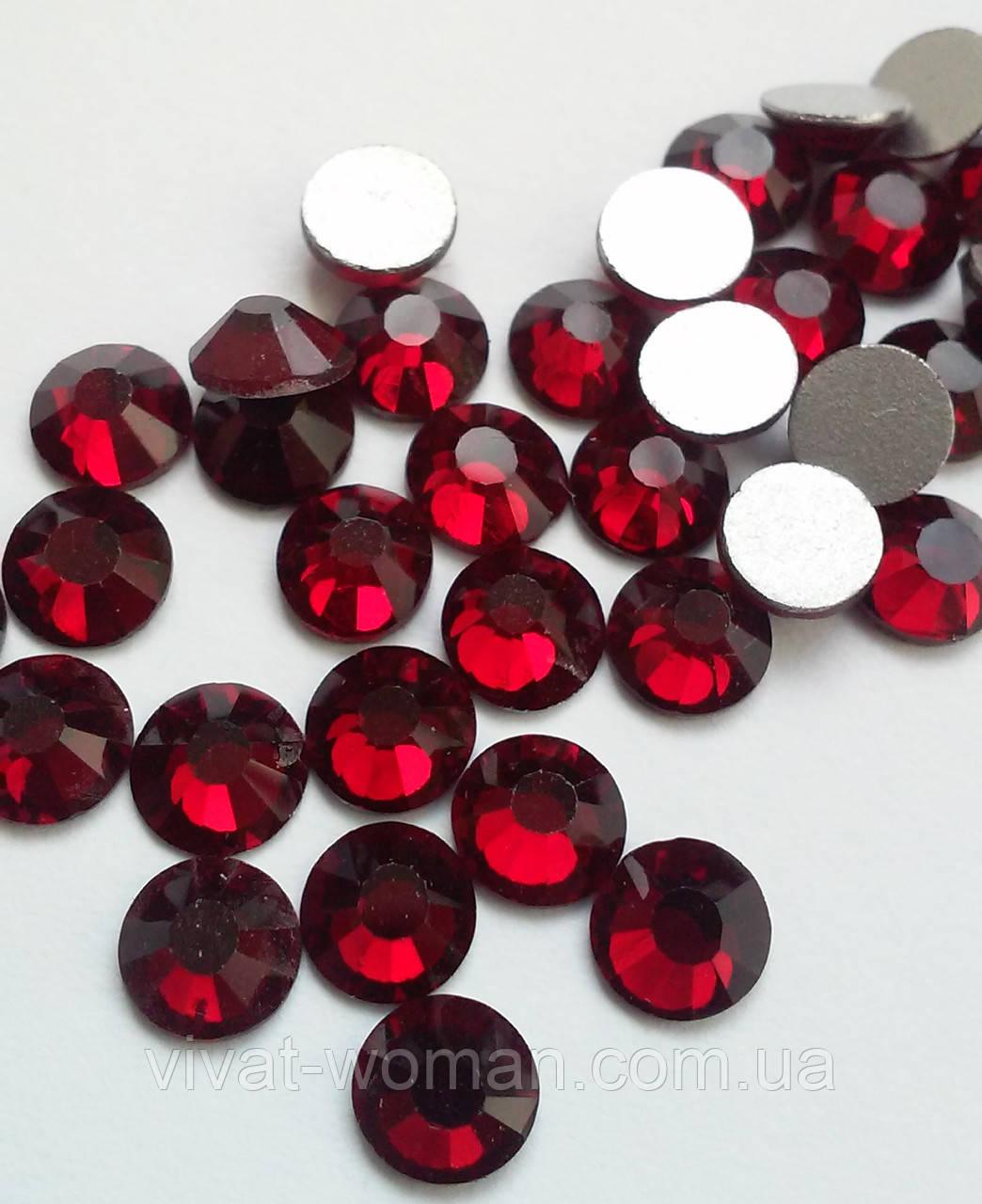 Стразы Dk.Siam (бордовый) SS16 холодной фиксации. Цена за 144 шт