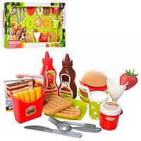 Продукты XJ326C  сладости, фастфуд и сладости, посуда, в кор-ке, 53,5-30,5-6см