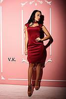 Черное, бордо, красное платье с красивым декольте