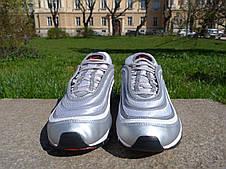 Кроссовки Nike Air Max 97 Bullet мужские \ женские (серые) Top replic, фото 3