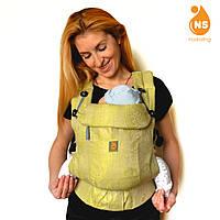 Эрго-рюкзак из шарфовой ткани тм Nashsling - Лайм
