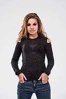 Женский свитерок OMNIA из трикотажного люрикса с открытым плечом