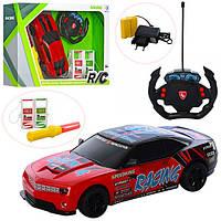 Машинка на радиоуправлении RD599-5-A-5, на аккумуляторе, 25см, рез.колеса, заправка, жезлезный корпус, звук,св
