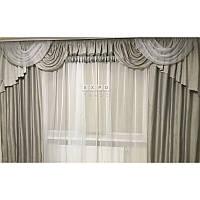 Велюровые шторы и ламбрекен Kate6