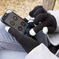 Теплые перчатки для работы с сенсорными экранами. Черные  Glove Touch