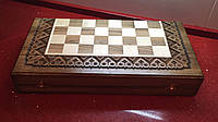 Шахмати і нарди в наборі ручної роботи з горіха 2 в 1