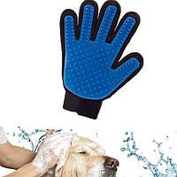 Массажная перчатка для снятия шерсти с животных Pet Brush Glove