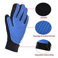 Массажная перчатка для ухода за шерстью питомца Pet Brush Glove