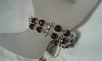 Браслет  в подарок для девушек и женщин из чешского хрусталя , фото 1