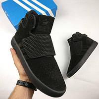 Мужские кроссовки Adidas Tubular Invader (Адидас Тубулар Инвайдер) черные