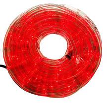 Гирлянда Дюралайт 10м , прозрачная трубка,  Свет красный.