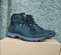 Зимние кожаные мужские ботинки в стиле Ессо