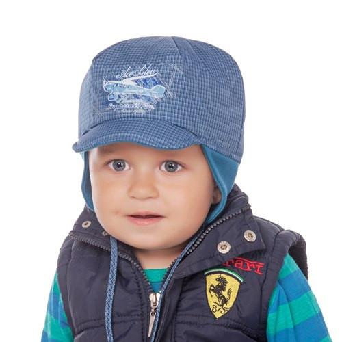 Детская шапка для мальчиков ЧАК оптом размер 46-48-50