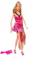 Кукла Штеффи с длинными волосами (темно-розовая расческа), Steffi & Evi Love (573 4130-2)