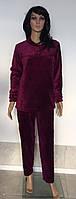Женская махровая пижама однотонная 44-50 р., женские пижамы оптом от украинского производителя