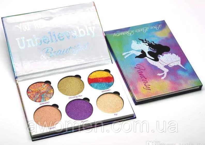 Тени для глаз love luxe beauty FANTASY Drenched Powder Palette (6 цветов)