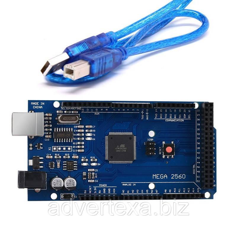 Arduino Mega 2560 R3 Mega2560 REV3 ATmega2560-16AU + USB шнур