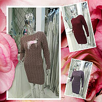 Лидер продаж! вязаное платье из натуральной шерсти!