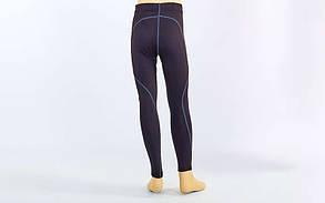 Штаны компрессионные подростковые для спорта LD-1202T-BK(28) (лайкра, р.135-140см,черный-серый)