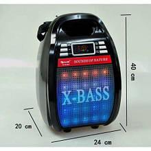 Колонка комбик Bluetooth mp3 радиомикрофон пульт цветомузыка Golon RX-810 BT