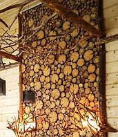 Панно из спилов дерева на стену