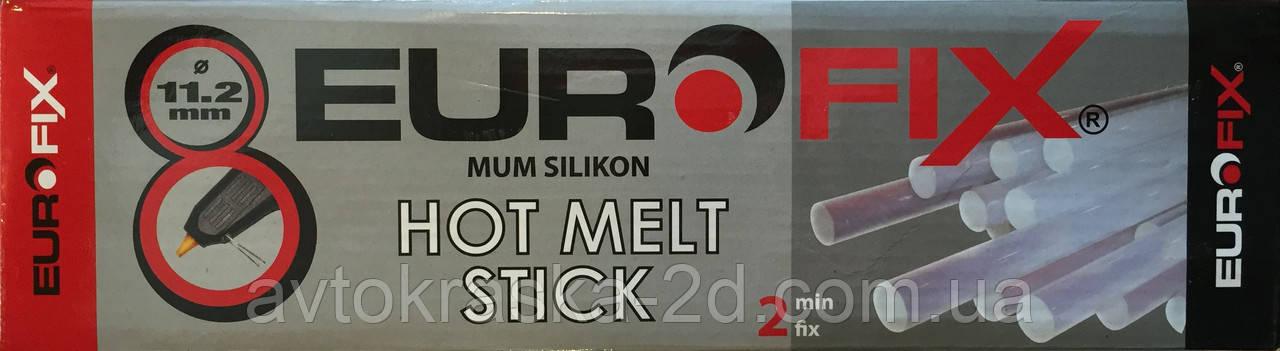 Термоклей EUROFIX 1 кг прозрачный 11,2*300 мм