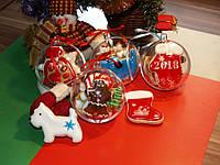 Новогодний прозрачный шар для конфет, фото 1