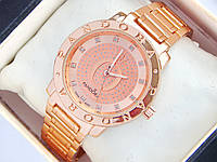 Часы Pandora розовое золото c буквой О и стразами на циферблате , фото 1