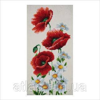 """Схема для частичной вышивки бисером """"Полевые цветы"""""""