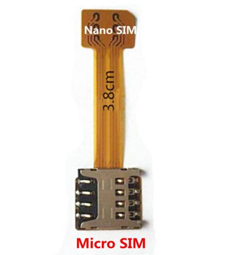 Перехідник на 2 SIM + MicroSD в комбінований лоток, адаптер microSIM