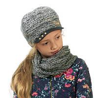 Детская шапка (комплект) для девочек КЭРИ оптом размер 50-52-54