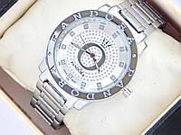 Серебряные часы Pandora c буквой О и короной, стразы на циферблате, фото 1