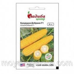 """Насіння цукрової кукурудзи Добриня F1 20 нас ТМ""""Садиба-Центр"""""""