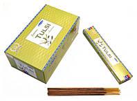 Satya Supreme Tulsi (плоская пачка) 15 грамм. L = 21,5 см. 12 пачек в блоке
