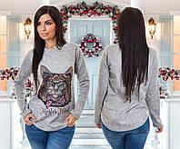 """Стильная женская кофта  """" Кот """" SK House, фото 1"""