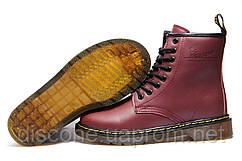 Зимние женские ботинки Dr. Martens, бордовый, на меху, р.Ошибка!