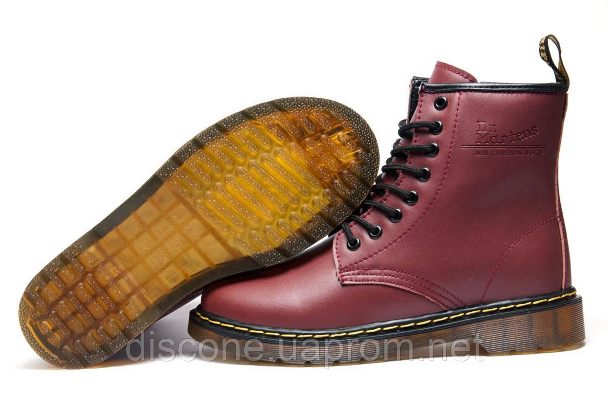 Зимние мужские ботинки Dr. Martens, бордовый, на меху, р. 40 41 45