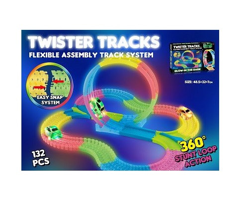 Детский гоночный трек Twister Tracks 7783 светящийся (аналог Magic Tracks)
