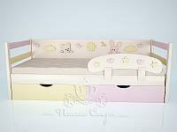 """Кровать детская """"Милые друзья (Pink/cream)"""" (Ольха/МДФ), фото 1"""