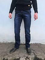 Джинсы мужские LS на флисе c косыми карманами синий ЗИМА, фото 1