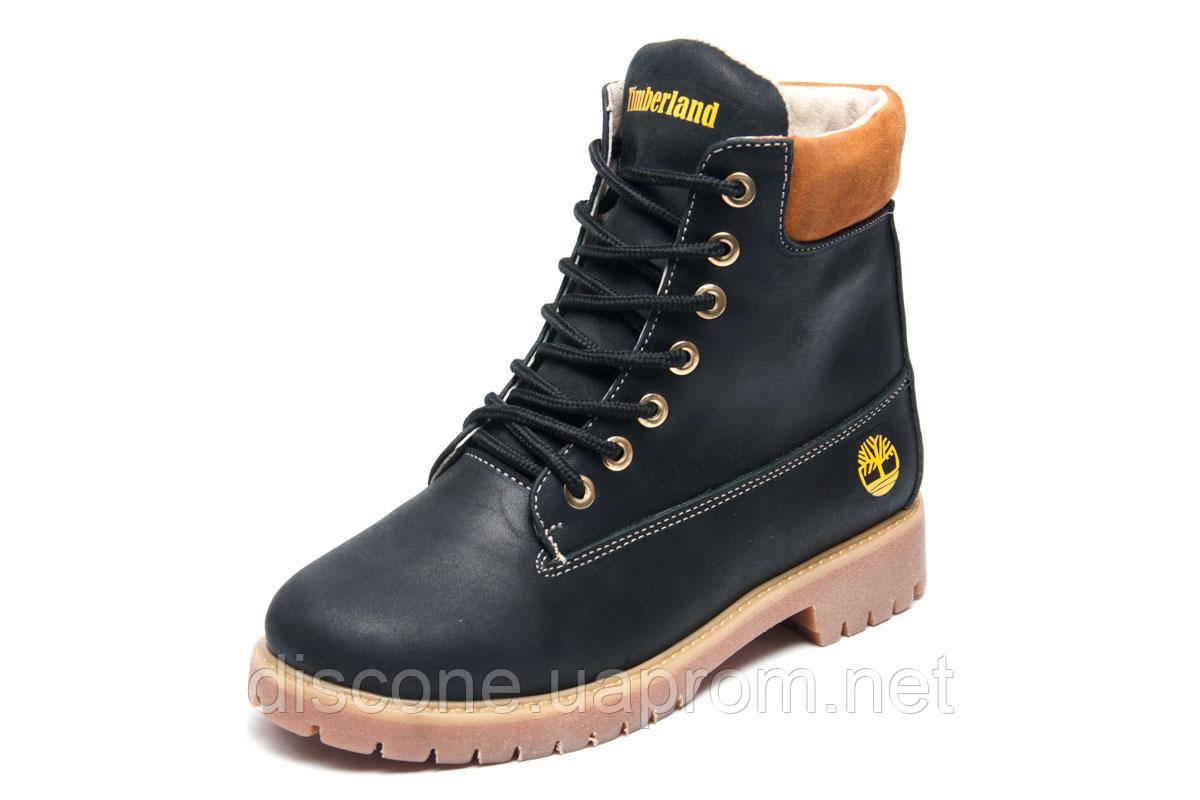 Зимние женские ботинки Timberland 6 inch, черный, натуральная кожа, р. 36 37 38 39 40