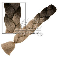 Канекалон для кос,  градиент (натуральные тона)