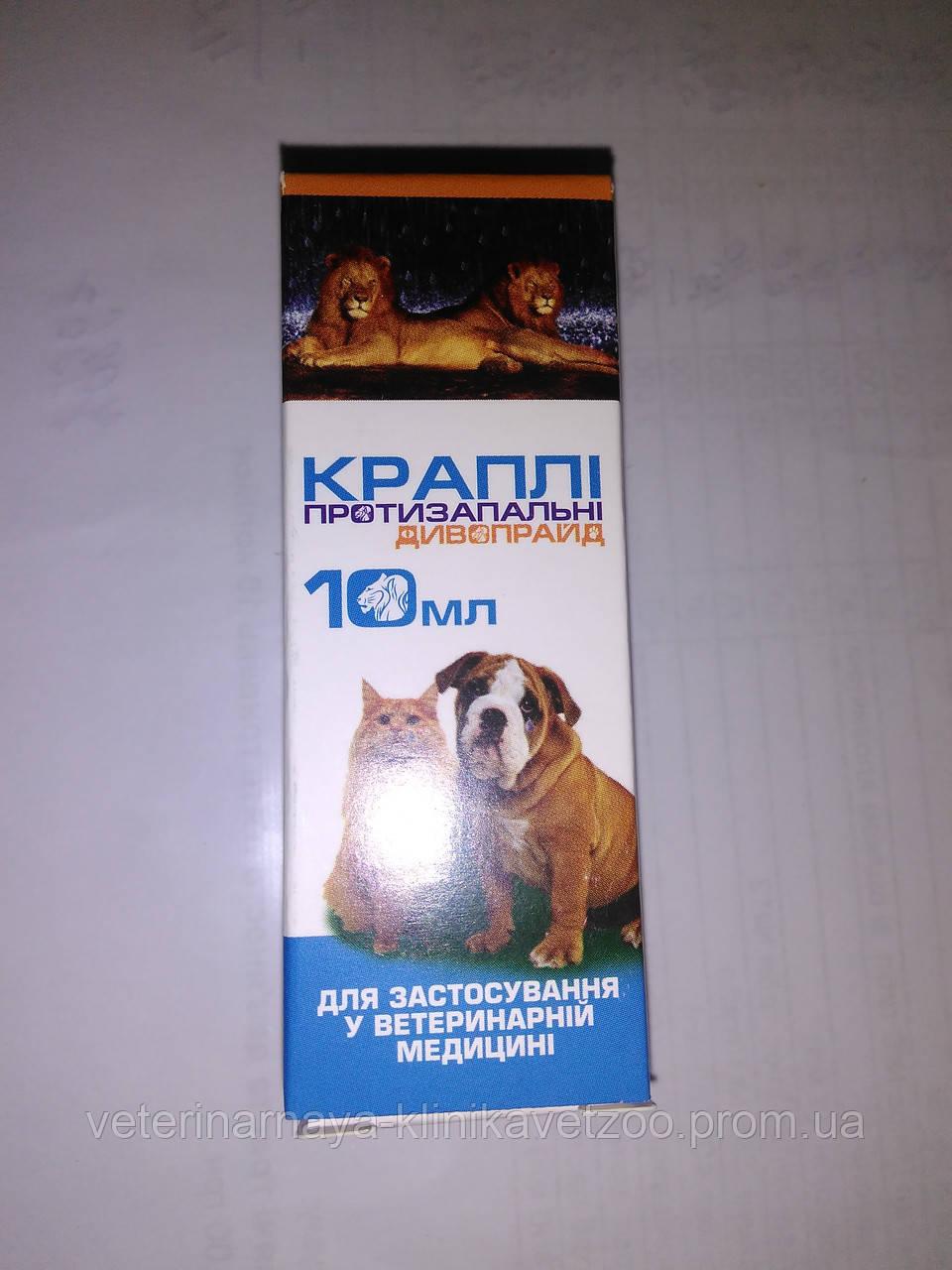 Капли глазные ,интраназальные Диво Прайд10мл.(для мелких домашних животных)