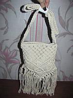 Плетеная сумка макраме