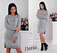 Свободное вязаное женское платье к-15433244а