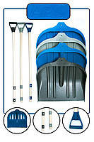 """Лопата для уборки снега+ледоруб """"Bradas"""" (Польша). Широкий ковш с металлической вставкой."""
