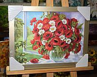 """Картина """"Квіти на підвіконні"""""""