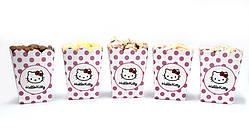 """Коробочки для солодкого """"Хелов Кітті"""" 5 шт/уп."""