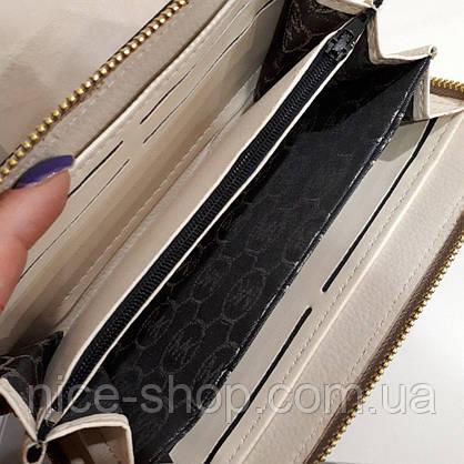 Кошелек Michael Kors Люкс, натуральная кожа Saffiano, золото,в коробке, фото 3